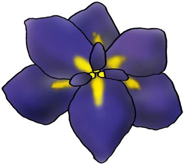 菖蒲の花 イラスト