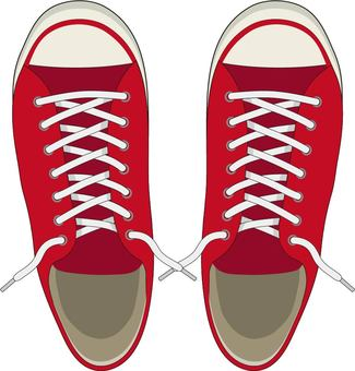 Sneakers red no knot