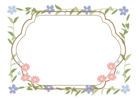 Flowers and frame 19