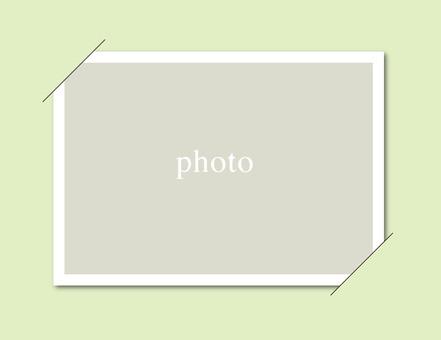 Simple Photo Frame Card Green ☆ Wallpaper