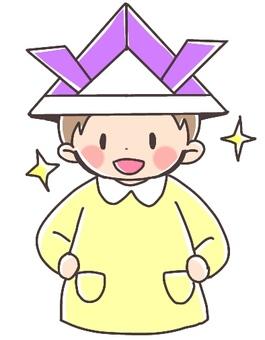 Helmet covered boy 2