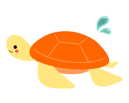 Sea animals (sea turtle)