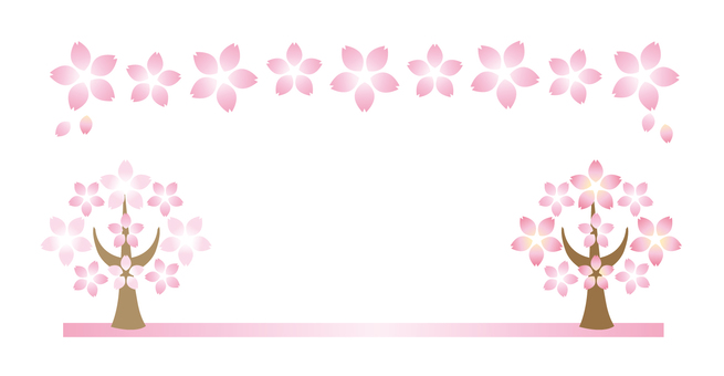 Cherry blossoms text frame 38