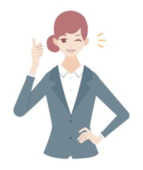 Good sign woman (suit suits)