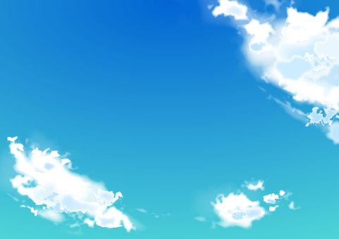 Spring sky Summer sky cloud background