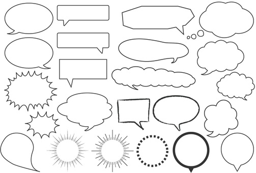 Speech balloon list