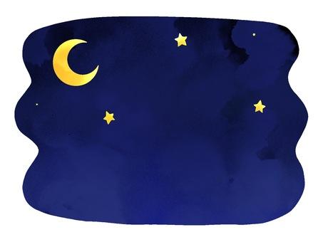 밤의 이미지 일러스트