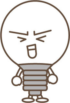 Light bulb character 5