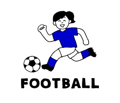 女子サッカー部(シンプル)
