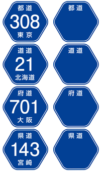 Prefectural road number