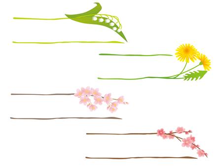 Spring decorative border