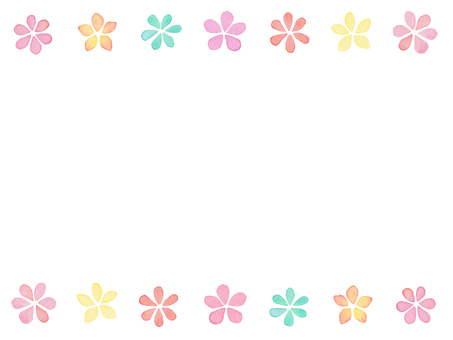 Water color flower frame A 2