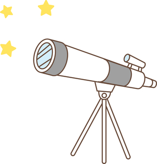 Astronomical observation with a telescope