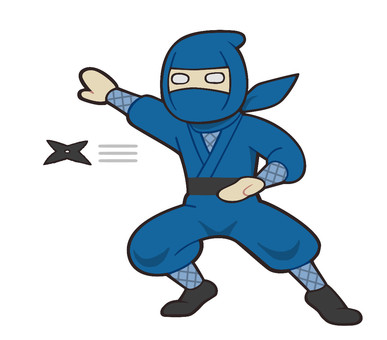 Ninja throwing a shuriken
