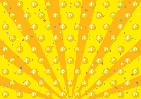 Confetti Point Coin Dots Concentrated Line Background