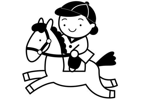 Horse riding 1c