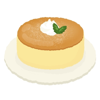 Creamed whole cheese cake 2