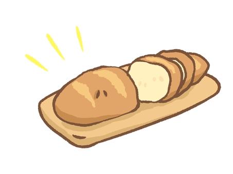 절단 된 빵