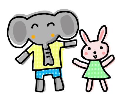 Elephant Mr. Rabbit