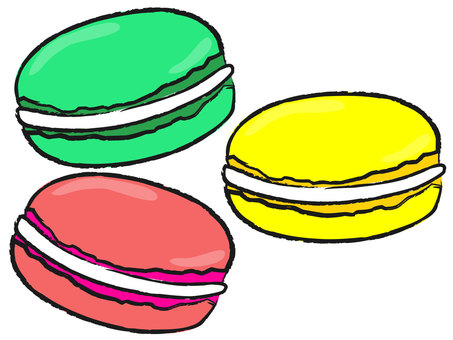 Three types of macaroons
