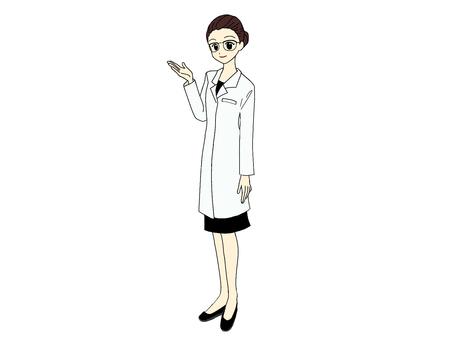 Woman_white coat_guide_upper body 半