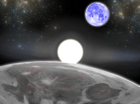 달에서 바라 보는 지구이야?