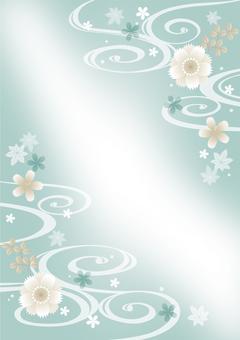 薄い色の和柄緑縦