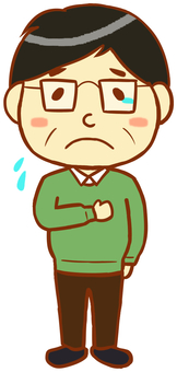 Middle-aged man (crying)