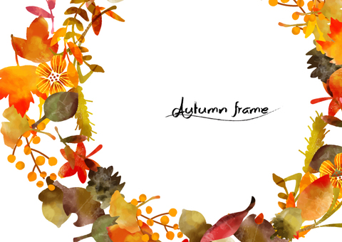 Background material frame that may be used in autumn