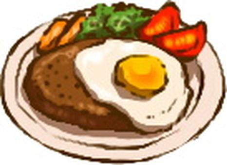 Fried egg hamburger