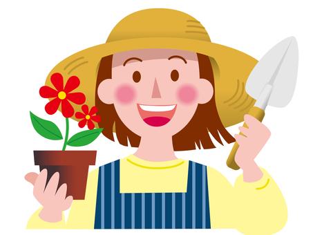 Various professions - flower shop