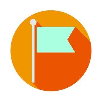 Flat icon - Flag