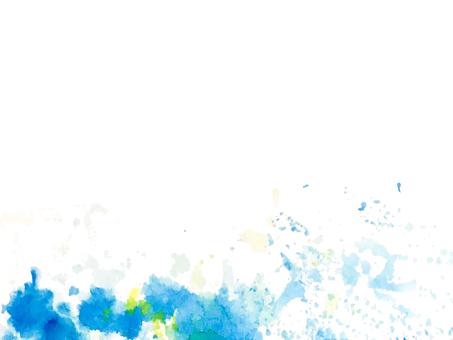 Splash of light blue ink