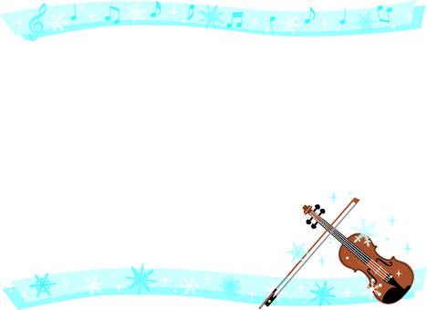 겨울 바이올린 카드