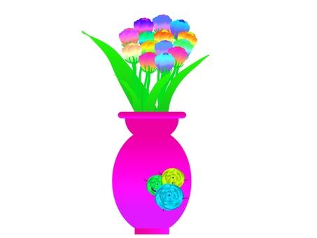 I tried creating creative flowers.
