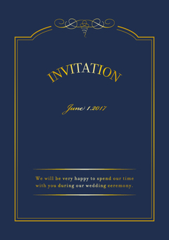 Invitations Antique Frame