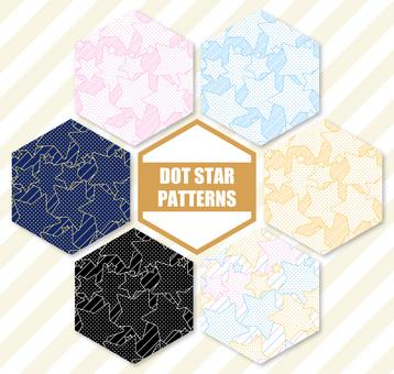 Dot star pattern pattern set 1