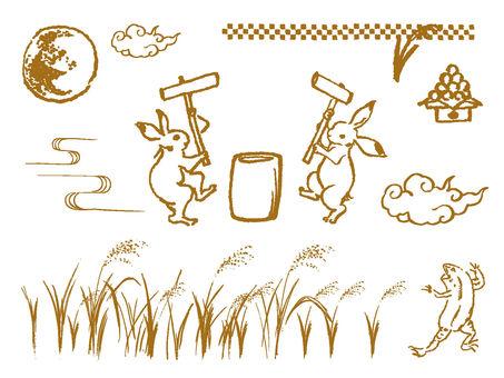 Otomi Japanese style Illustration Set