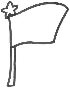 國旗飄揚的旗幟