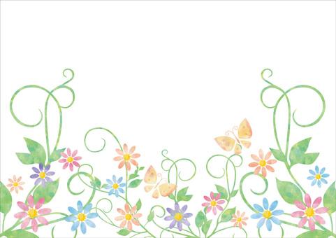 만초와 꽃 프레임