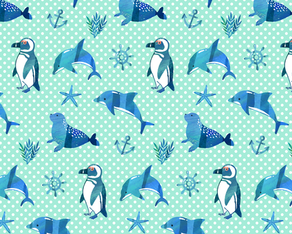Blue creature pattern