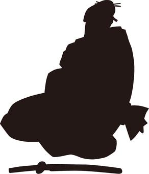 Ukiyo-e character silhouette part 72