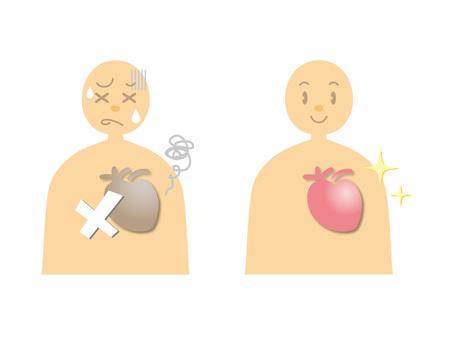 인체 그림 _ 심장 건강과 질병
