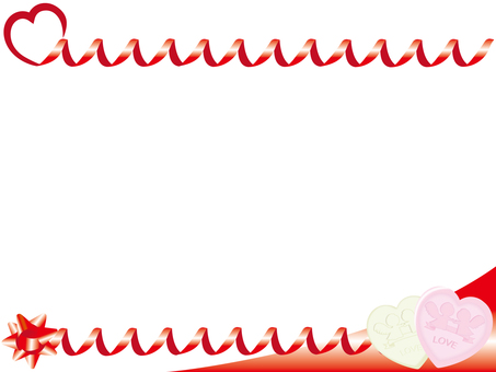 Valentine Ribbon Frame