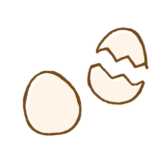 Hand-drawn illustration of an egg
