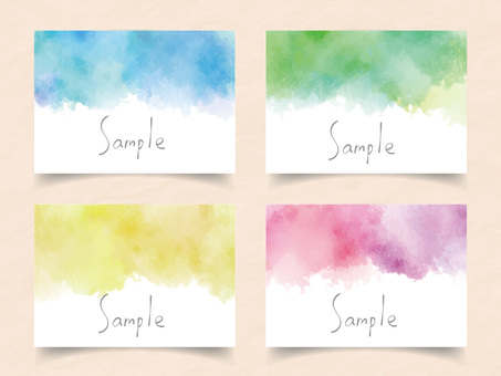 Watercolor frame set ver16