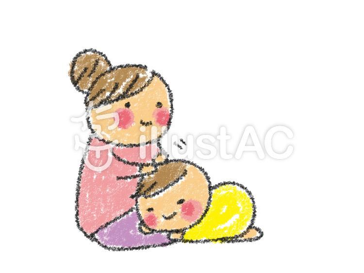 手描き お母さんと赤ちゃんのイラスト