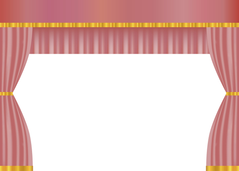 Pink drape curtain background curtain wallpaper material