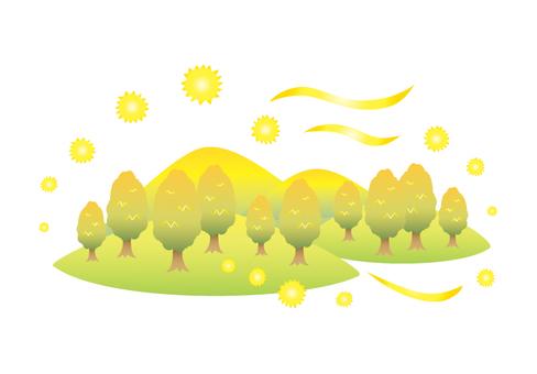 Cedar pollen illustration