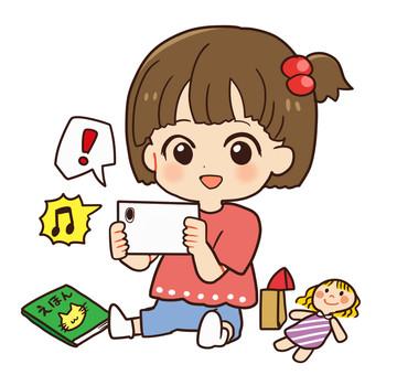 嬰兒(嬰兒)和智能手機